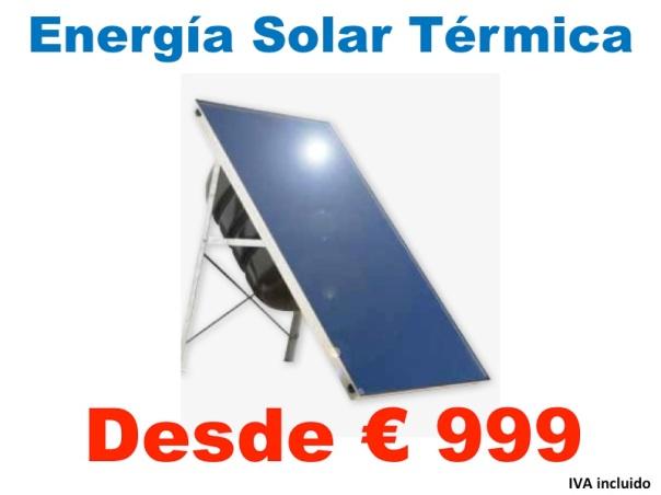 Oferta, placa solar termica, tu clima
